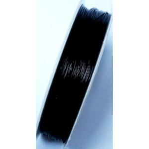 Sarma de otel acoperita cu nylon 0,3 mm - culoare neagra 1m