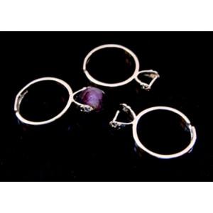 Baza inel reglabil argintiu rodiat 20 mm