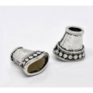Capac semiconic argint tibetan 16 x 8 mm