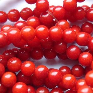 Coral rotund rosu 4 mm