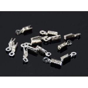 Capat de snur placat cu argint 2.5 x 5 mm (10buc)