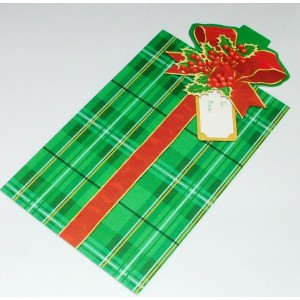 Plic cartonat decorativ Craciun marca Hallmark pentru cadou bani/cecuri