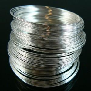 10 bucle sarma cu memorie argintie bratara