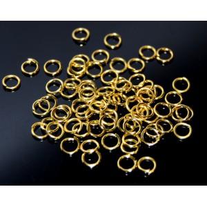 30 Zale deschise 5 mm placate cu aur