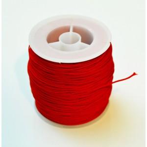 Snur ata nylon rosie cu miez silicon 1 mm (1 m)