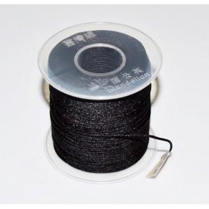 Snur ata nylon negru cu miez silicon 1 mm (1 m)