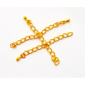 Lant prelungitor (extensie colier/bratara) auriu - 5 cm