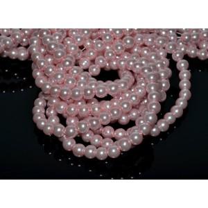 10 Sfere perle roz pal 8 mm