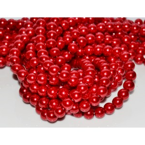 10 Sfere perle rosii 8 mm