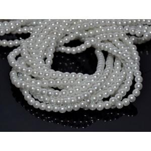 10 Perle de sticla albe 4 mm