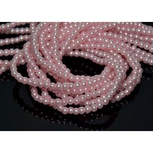 10 Perle de sticla roz 4 mm