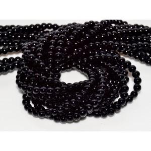 10 Perle de sticla negre 4 mm