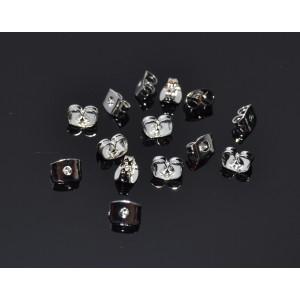 20 Fluturasi cercei (stopper) placati cu argint 5 mm