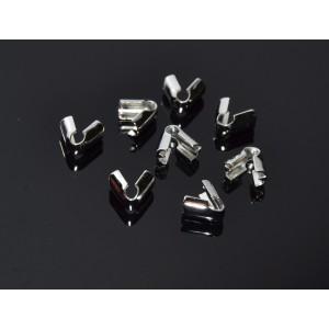 Capat de snur placat cu argint 7 x 4 mm (2b)