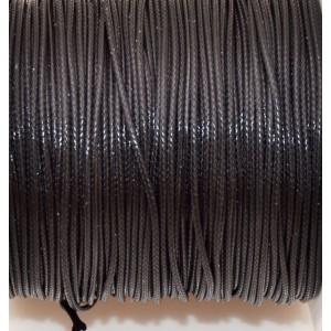 Snur cerat negru lucios 1 mm