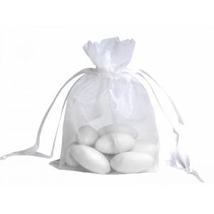 Saculeti organza albi 7 x 9 mm