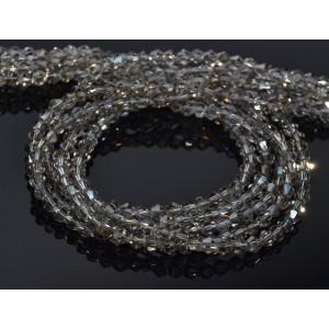 10 Margele cristal biconic 4 mm fumurii