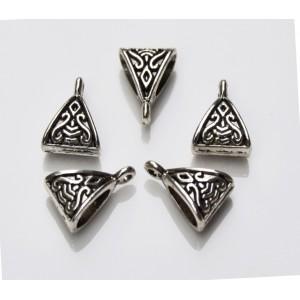 Agatatoare pandantiv argintiu antichizat 16 x 11 mm