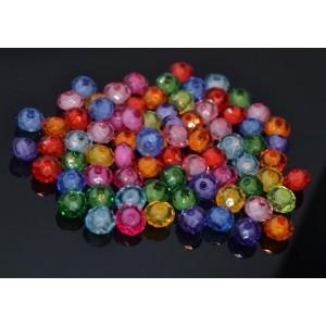 10 Mix rondele colorate fatetate 10 x 7 mm