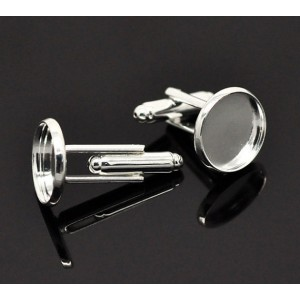 Butoni camasa placati cu argint int.12 mm, ext.14 mm