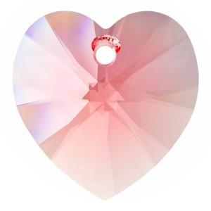 Pandantiv cristal inima fatetata 10.5 mm