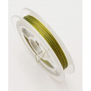 Sarma tiger tail olive, otel cu nylon (Tiger Tail) - 0.35 mm (10 m)