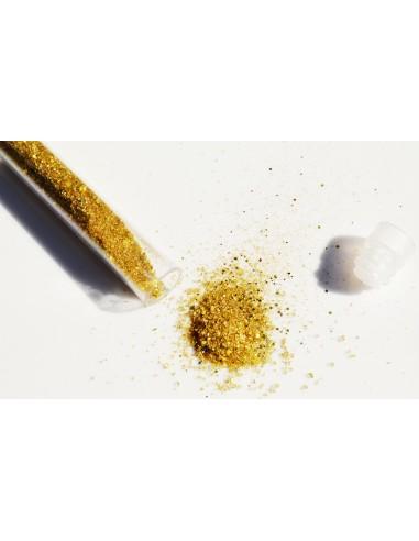 Sticluta cu sclipici auriu pulbere