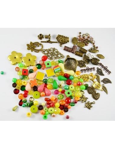 Lot mixt 100 margele si 50 accesorii bronz si cupru 4 - 20 mm