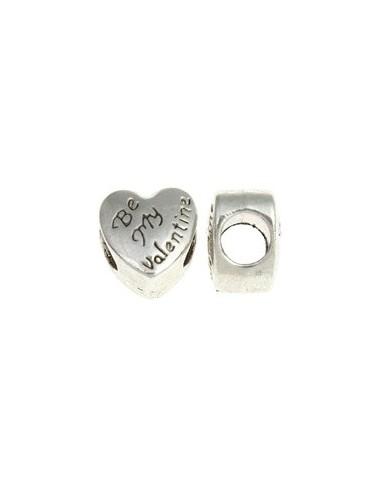 Margele PANDORA argintii inima Be My Valentine 10 x 8 mm