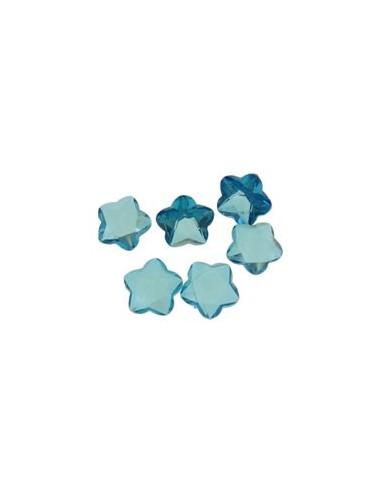 10 Margele cabochon floare fatetata cu baza rivoli 8 x 5 mm