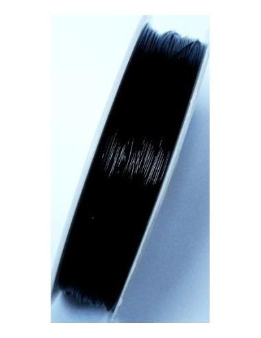 Sarma de otel acoperita cu nylon 0,38 mm - culoare neagra (3 m)