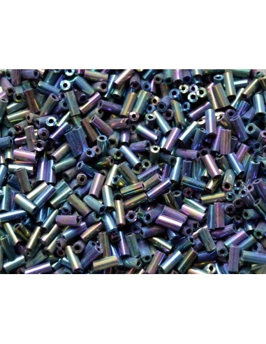 Margele de nisip vitrail metalic tubulare 2 x 4.5 mm