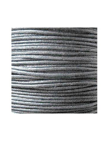Șnur circular bumbac cerat negru 1 mm