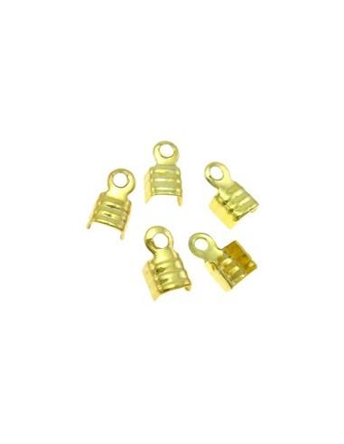 10 Capete de snur aurii 3.5 x 5.5 x 2 mm