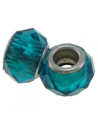 Rondele PANDORA cristal fatetat 14 x 9 mm