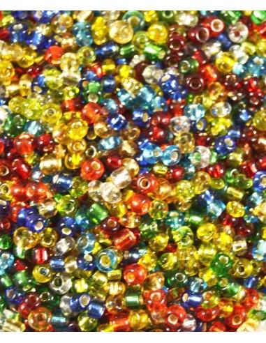 Margele de nisip mix translucid 2-3 mm (10g)