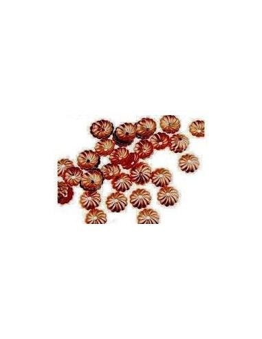 10 Capacele decorative floare cupru antichizat 10 mm