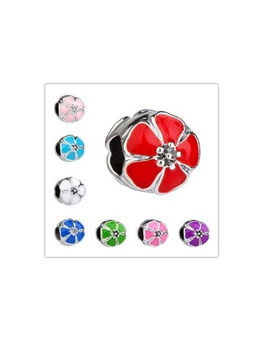 "Charm PANDORA floare emailata ""Cherry Blossom"" 11 x 10 mm"