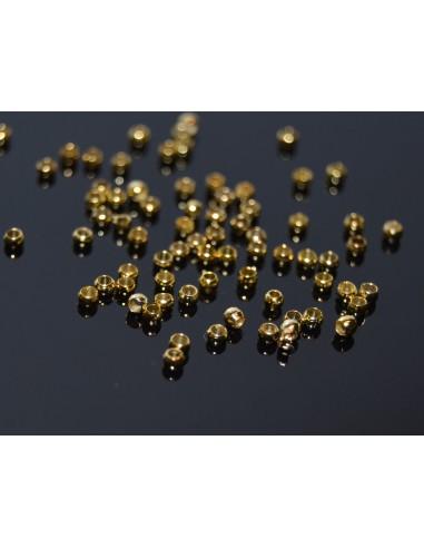 50 Crimpuri (margele de strivit) aurii 2.5 mm