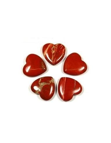 Margele jasp rosu inima 13 x 12 mm