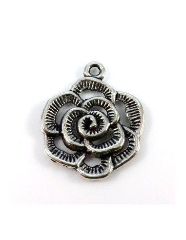 Pandantiv charm argintiu floare 24 x 20 mm