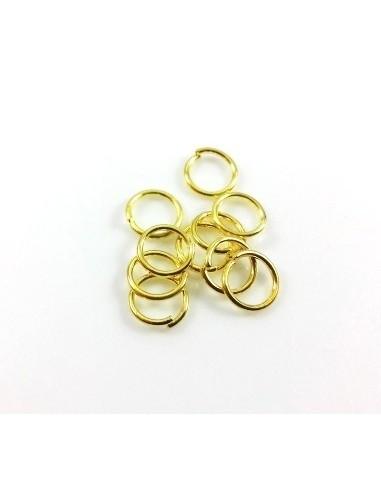 30 Zale aurii rotunde 7 mm
