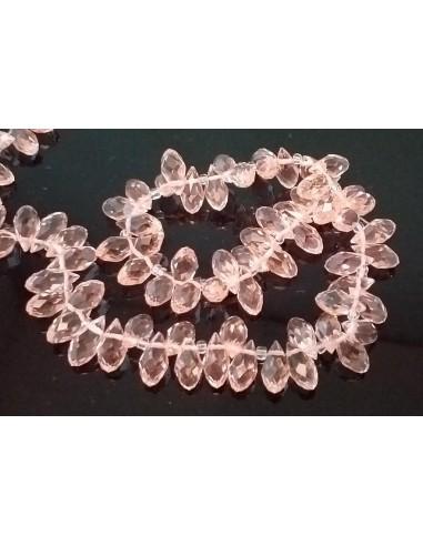 Brioleta fatetata cristal Light Peach 6 x 12 mm