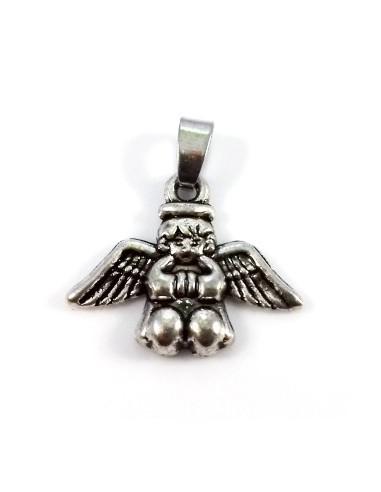 Pandantiv argintiu antichizat ingeras 26 x 21 mm