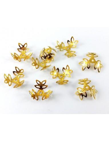 Capacele decorative aurii filigran 13 mm