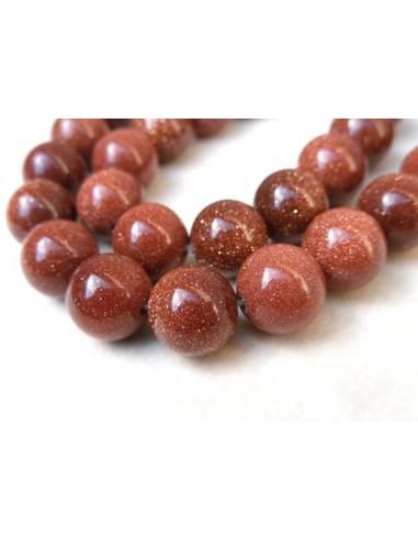 Goldstone maro sferic 6 mm
