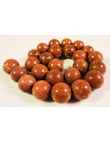 Goldstone maro sferic 10 mm