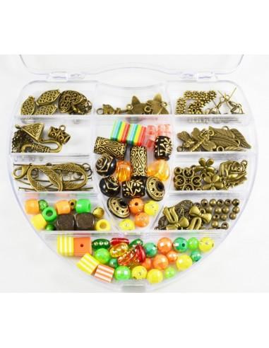 Kit margele si accesorii bijuterii cu 130 componente