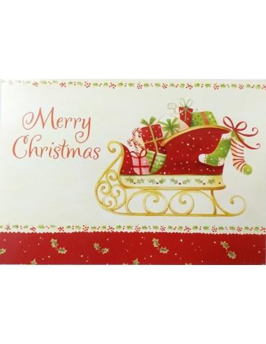 Felicitare Merry Christmas cu plic inclus A6