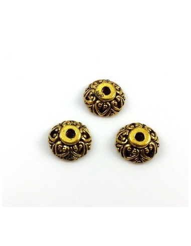 Capacele decorative aurii cu inimioare 10 x 4 mm